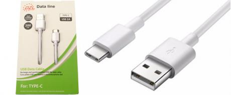 Nabíjecí kabel DZL 2A USB/ USB typ-C 200 cm