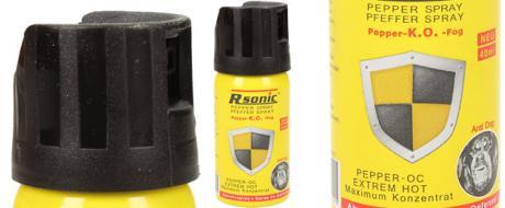 Obranný pepřový sprej 40ml žlutý