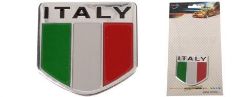 Kovová samolepka ITALY  5 x 5 cm