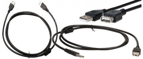 USB prodlužovací kabel 28AWG+24AWG (samec-samice)