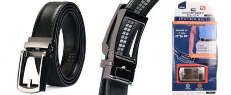 Opasek kožený černý s automatickým zapínáním
