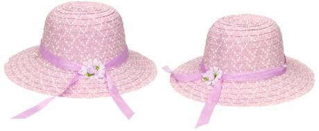 Dětský klobouk s kytičkou fialový