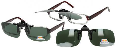 Polarizační sluneční Klip na brýle zelený