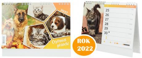 Kalendář 2022 Čtyřnozí přátelé 22 x 18 cm