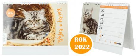 Kalendář 2022 Kočky a koťata 22 x 18 cm