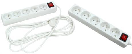Prodlužovací kabel s vypínačem 5 zásuvky 5 m bílý
