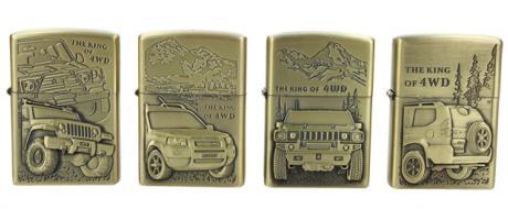 Zapalovače 4 ks - Terénní vozy THE KING OF 4WD