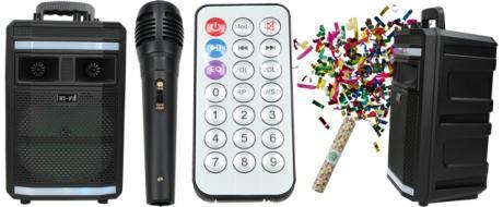 Bezdrátový párty reproduktor HI-FI s mikrofonem SZ-1829