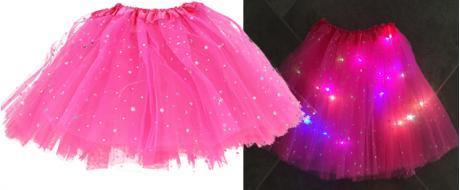 Svítící dětská sukně