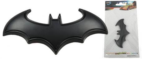 Kovová samolepka Batman 8 x 3 cm černá
