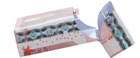 Plechová krabička na cigarety Euro