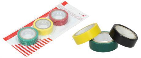 Sada 3 kusy izolační páska červená, zelená, modrá