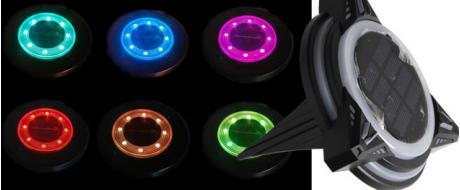 Solární barevné světlo RGB FO-TA124