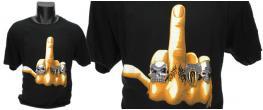 Tričko fuckoff žlutý prst