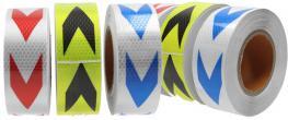 Reflexní lepící páska 25m šipky