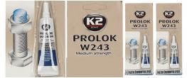 K2 PROLOK W243 medium 6 ml - fixátor šroubových spojů