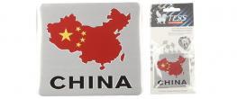 Kovová samolepka CHINA 6cm x 5,5cm