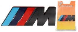 Kovová samolepka M černé 3cm x 8cm