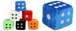 Plyšové hrací kostky 7 cm