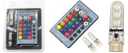 Univerzální magická žárovka Auto T10 RGB LED 2 kusy