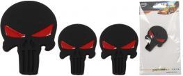 Samolepka černá lebka vetřelec s očima