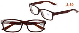Dioptrické brýle pro krátkozrakost -3,50 hnědé
