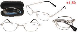Skládací brýle v pouzdře +1.50