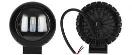 LED přídavný reflektor do auta kulatý 30W