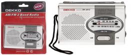 Mini rádio Dekko AM/FM 2 Band
