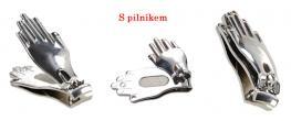 Kleštičky na nehty ruka 5cm s pilníkem