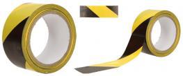 Lepící páska žluto-černá 50mm hladká