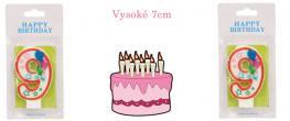 Svíčka na dort- číslo 9.