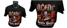 Tričko AC/DC HELLS BELLS 001 červené