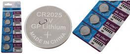 Knoflíková baterie CR2025 3V 1 kus
