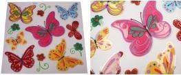3D samolepky na zeď barevní motýli 11ks