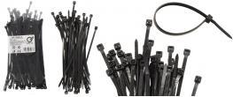 Stahovací pásky černé 3,6 x 150 mm, 100 kusů
