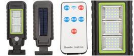 LED solární světlo na dálkové ovládání HS-8011A