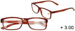 Dioptrické brýle +3,00 hnědé