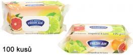 Fresh Air vlhčené ubrousky 100ks Grapefruit & Lime