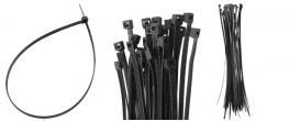 Stahovací pásky černé 8 x 400 mm, 50 kusů