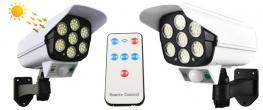 Imitace bezpečnostní kamery CL-877B s LED solárním světlem