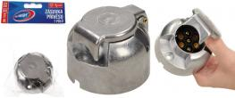 Zásuvka přívěsu 7 pólů stříbrná