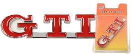 Kovová samolepka GTI 8,5 x 2,5 cm
