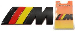 Kovová samolepka M černá (červená, žlutá) 3 x 8 cm