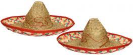 Slaměné sombrero zeleno-červené