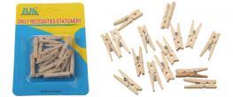 Dřevěné mini kolíčky sada 15 kusů