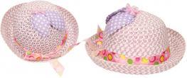 Dětský klobouk s mašličkou fialový
