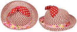 Dětský klobouk s mašličkou červený