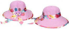 Dětský klobouk s králíkem fialový