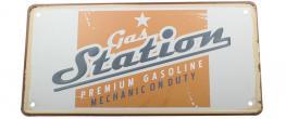 Cedule značka USA 30x15,5 cm GAS STATION